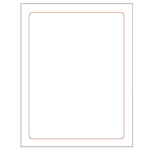 graphic about Printable Window Sticker called Internal Blank 8.5within just x 11inside of (7.75within just x 10.25within Printable) Window Sticker Inventory - (250/PK)