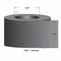 "Wax Ribbon-5.12""x1345'-Black-1345'/RL"