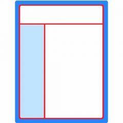 Interior Blank 8.5in X 11in (7.75in X 10.25in Printable) CPO Template - (250/PK)
