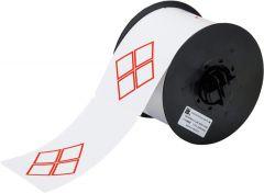 "Vinyl Label for B30 Series-4B Diamonds-4.33""x2.95""-White-270/RL"