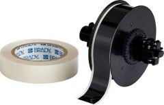 """Polyester ToughStripe Floor Marking Tape for B30 Series-1.125""""x100'-Black-100'/RL"""