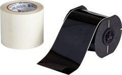 """Polyester ToughStripe Floor Marking Tape for B30 Series-4.00""""x100'-Black-100'/RL"""