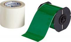 """Polyester ToughStripe Floor Marking Tape for B30 Series-4.00""""x100'-Green-100'/RL"""