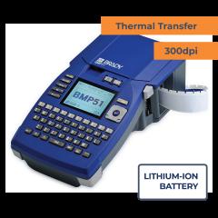 Brady BMP51 Portable Printer w/ Lithium Ion Battery / AC Adaptor - 300 dpi