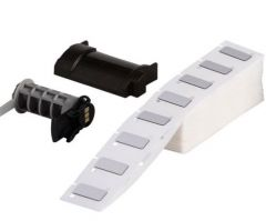 """Polyester Raised Panel Label for BMP61/BMP71/TLS200/TLS-PC LINK-0.49""""x0.49""""-Silver-200/BX"""