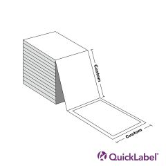 Quicklabel 244 Cast Gloss White 10pt. Paper Card Stock