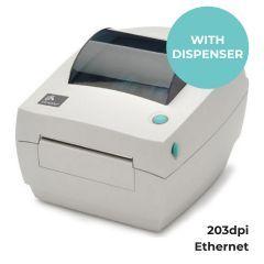 Zebra GC420t Desktop Printer - 203 dpi - Thermal Transfer - Dispenser - Ethernet