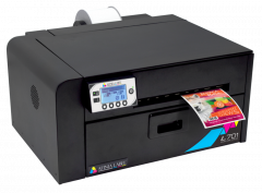 Afinia L701 dye ink printer presenting a color label.