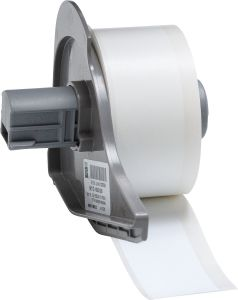 "Vinyl Tamper Evident Label for BMP71-1.00""x50'-White 50'/RL"