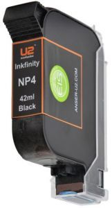 Anser NP4 Black Ink Cartridge (42ml) Solvent Based