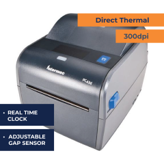 Honeywell PC43d DT Desktop Printer - RTC - Adjustable Gap Sensor - 300 dpi
