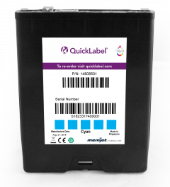 QL-850 Cyan Ink Cartridge 250 ml, Cyan