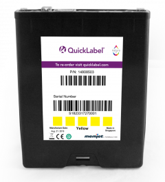 QL-850 Yellow Ink Cartridge 250 ml, Yellow