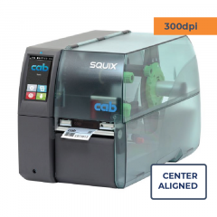 Cab Squix 4.3 / 300 M Printer - 300 dpi - Center Aligned