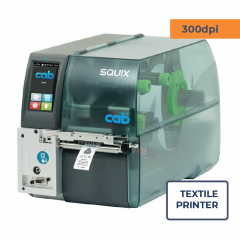 Cab Squix 4.3 / 300 MT Printer - 300 dpi - Center Aligned - Textile Printer