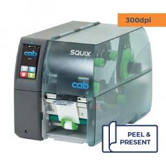 Cab Squix 4 / 300 MP Printer - 300 dpi - Peel and Present - Center Aligned