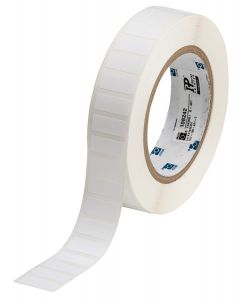 "Polyester Label-0.90""x0.375""-White-3000/RL"