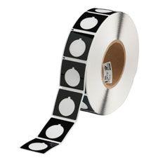 "Polyester Raised Panel Label-1.80""x1.80""-Black-500/RL"