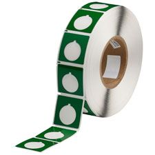 "Polyester Raised Panel Label-1.80""x1.80""-Green-500/RL"