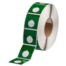 "Polyester Raised Panel Label-2.40""x2.40""-Green-500/RL"