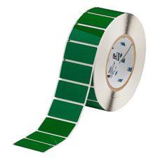 "Polyester Raised Panel Label-2.00""x1.00""-Green-500/RL"
