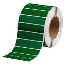 "Polyester Raised Panel Label-4.00""x1.00""-Green-500/RL"