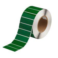 "Polyester Raised Panel Label-3.00""x1.00""-Green-500/RL"