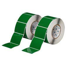"Polyester Raised Panel Label-3.00""x2.50""-Green-500/RL"