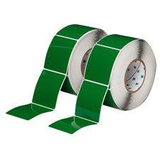"Polyester Raised Panel Label-3.00""x3.5""-Green-500/RL"