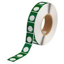 "Polyester Circle Raised Panel Label-1.2.00""x1.50""-Green-500/RL"