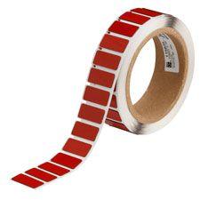 "Polyester Raised Panel Label-1.06""x0.49""-Red-250/RL"
