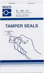 """Tamper Evident Defender Calibration Void Label-0.75""""x0.375""""-White-480/BK"""