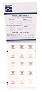 "Tamper Evident Defender Circle Label-0.80"" Diameter-White-300/BK"