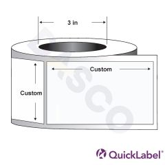 Quicklabel 228 High-Gloss White Paper Label w/ Freezer-Grade Adhesive