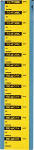 "Vinyl Pre-Printed Label-1.50""x0.625""-Yellow-14/CRD"