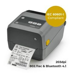 Zebra ZD420 Healthcare Desktop Printer-203 dpi-Thermal Transfer-Ribbon Cartridge-802.11ac and Bluetooth 4.1 Connectivity