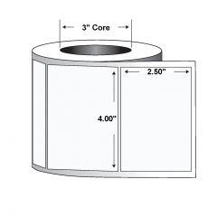 "Polyester Label-4.00""x2.50""-White-2240/RL 4/CS"