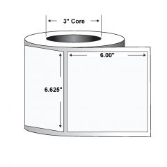 "Paper/Polypropylene Z-Slip Label-6.625""x6.00""-White-660/RL 2/CS"