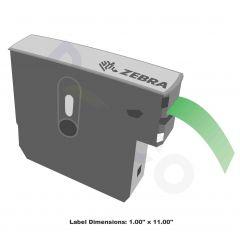 "Z-Band Direct Wristband-1.00""x11.00""-Green-200/RL 6/CS"