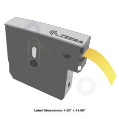 """Z-Band Direct Wristband-1.00""""x11.00""""-Yellow-200/RL 6/CS"""