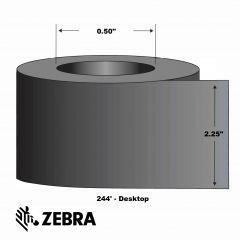 "Wax/Resin Ribbon-2.25""x244'-Black-244'/RL 12/CS"