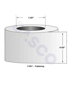 "Resin Ribbon-4.00""x1181'-Gray-1181'/RL"