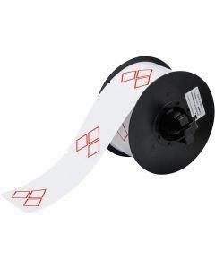 """Vinyl Label for B30 Series-3.35""""x2.17""""-White-340/RL"""