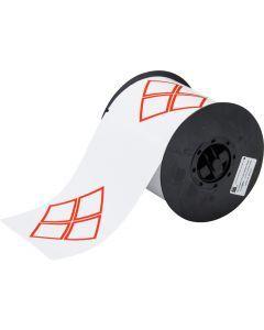 """Vinyl Label for B30 Series-6.10""""x4.13""""-White-200/RL"""