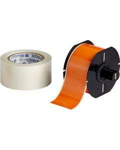 "Polyester ToughStripe Floor Marking Tape for B30 Series-2.25""x100'-Orange-100'/RL"