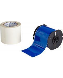 """Polyester ToughStripe Floor Marking Tape for B30 Series-4.00""""x100'-Blue-100'/RL"""