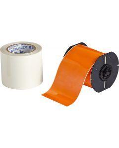 "Polyester ToughStripe Floor Marking Tape for B30 Series-4.00""x100'-Orange-100'/RL"