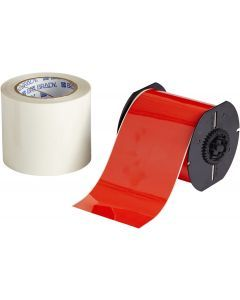 "Polyester ToughStripe Floor Marking Tape for B30 Series-4.00""x100'-Red-100'/RL"