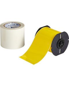 "Polyester ToughStripe Floor Marking Tape for B30 Series-4.00""x100'-Yellow-100'/RL"
