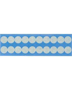 "Paper Circular Mask Label-0.875""-Beige-20/CRD"